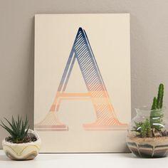 Placa decorativa - Letter A