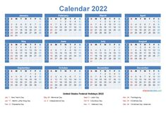 Downloadable Calendars 2022 Yearly Calendar Template, Excel Calendar, Printable Calendar Template, 2021 Calendar, Calendar Ideas, Large Desk Calendar, Fillable Calendar, Fiscal Calendar, January Calendar