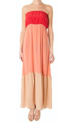 "Erika Cavallini Semi-coture ""Acapulco"" 3 tone maxi-dress"