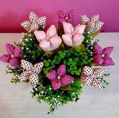 Artesanato Fofo: Arranjo de tulipas em tecido