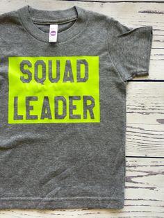 Squad Leader by LittleUptownKids on Etsy