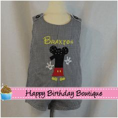 Boys Personalized  Mickey Mouse Clubhouse Shortalls
