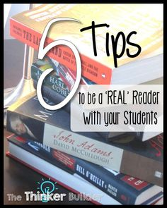 5 Tips to be a 'REAL' Reader with your Students, blog post