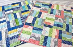 Free jelly roll baby quilt pattern - would also work great for scraps! cute and simple