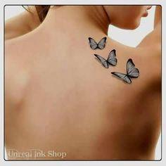 Brilliant 3D Butterfly Tattoo