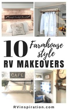 If Joanna Gaines were to do a makeover on a travel trailer or motorhome, I would imagine it would end up look something like these beautifully decorated RV's! Let these ladies' decor inspire your own Farmhouse style camper makeover! Camper Interior, Diy Camper, Camper Ideas, Camper Storage, Camper Tricks, Trailer Storage, Trailer Interior, Popup Camper, Hanfu