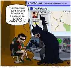 Un motivo per non usare Foursquare se sei Batman