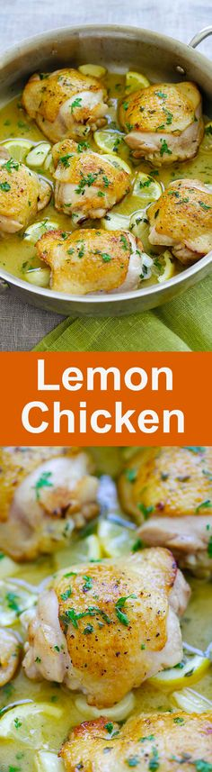 Lemon Chicken - one pan chicken pan-fried to golden perfection in buttery lemon sauce. Easy lemon chicken recipe that is perfect for dinner | rasamalaysia.com