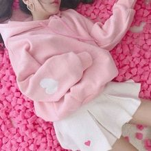 Harajuku kawaii printed hoodie plus size long sleeve vs pink oversized women pullover autumn winter kpop clothes women hoddies Outfits Kawaii, Kawaii Clothes, Pastel Clothes, Kpop Clothes, Kawaii Shirts, Looks Kawaii, Kawaii Style, Pull Court, Mode Kawaii