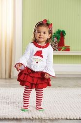 Mud Pie Clothing- Mud Pie Santa Skirt Set - Find|Buy|Shop|Compare|LollipopMoon.com only $37.95 - Fall 2013 Preview