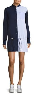 Colorblock cotton shirt dress Public School rQRYt4MY