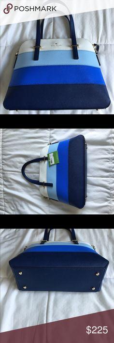 Kate Spade Ocean Blue Maise Satchel Kate Spade Maise Satchel Ocean Blue Mult - New with tags.  Includes shoulder strap and dust bag kate spade Bags Shoulder Bags