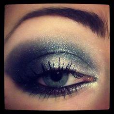 Black & Silver Eye Makeup