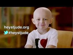 "The kids of St. Jude along with their celebrity friends made this heartfelt message of support for kids everywhere fighting cancer and other deadly diseases. Help to ""make it better"" and sing along with us…#HeyStJude"