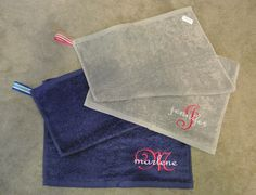Pocket Workout Sweat Towel by LizzysBiz on Etsy