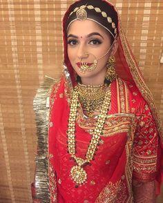Baisa Raj Hukum in red Poshak Rajasthani Bride, Rajasthani Dress, Indian Wedding Bride, Indian Bridal Wear, Rajputi Jewellery, Bridal Lehenga Collection, Raw Silk Saree, Rajputi Dress, Bridal Makeup Looks