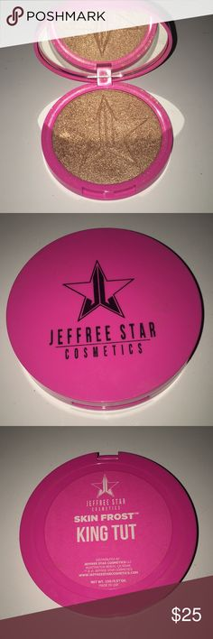 Jeffree Star King Tut Skin Frost Authentic King Tut highlight -barely used-great condition. Cleaning out my collection Jeffree Star Makeup Luminizer