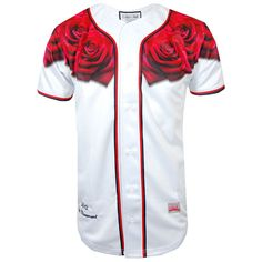 Sik Silk White Rose Baseball Jersey #siksilk
