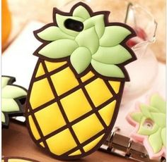 2013 NEW cute 3D pineapple case silicon cover for iphone 4 4s 5G handbag chain case free shipping € 6,73