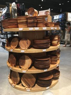 Get a sneak peek inside MUJI's first BC store at Metropolis at Metrotown in Burnaby. Wooden Plates, Pottery Plates, Kitchen Items, Kitchen Decor, Serving Utensils, Ceramic Tableware, Wooden Gifts, Wood Bowls, Wooden Kitchen