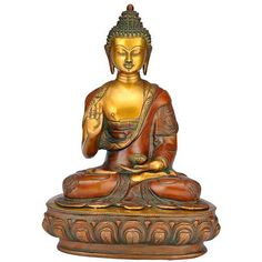 Abhaya Buddha - Brass Sculpture
