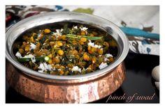 ++++++Pinch+Of+Swad:+Methichi+Bhaji+(Fenugreek+Leaves+dry+Vegetable+cur...