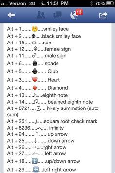 Computer symbols instructions cheat sheet!