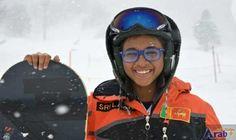 Sri Lankan 'Eddie the Eagle' takes snowboarding…