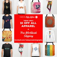 Day 5 of 9 Days of Nifty Gifties  FREE WORLDWIDE SHIPPING + $5 OFF T-SHIRTS, TOTES, LEGGINGS AND ALL APPAREL - ENDS TONIGHT AT MIDNIGHT PT! https://society6.com/katayoonphotography #specialoffer #discount #sale #specialprice #realpargain #freeshipping #savemoney #holidayshopping #christmasshopping #apparel #fashion #tees #tshirts #bags #totes #totebags #pretty #chic #beautiful #casual #hip #hipster #young #youngster #feminine #masculine #lastdeals #leggings #fashionable #stylish #color…
