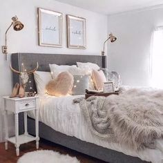 Teen Girl Bedrooms for sweet comfy room decor - From do it yourself to fun help. Tip ref 8754209776 Categorized in teen girl bedrooms decorating ideas cozy , created on this moment 20190315 Stylish Bedroom, Cozy Bedroom, Bedroom Inspo, Home Decor Bedroom, Modern Bedroom, Girls Bedroom, Living Room Decor, Contemporary Bedroom, Scandinavian Bedroom