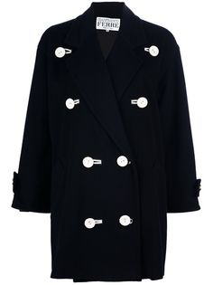 Gianfranco Ferre Vintage Double Breasted Coat - Farfetch 32a52f573c8