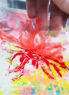 plastic bag printmaking awesome idea to teach young kids monotype printing without it costing a lot