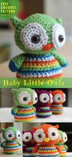 "#BabyOwls [Free Crochet Pattern] | Crochet → Animal | size: 4,5""  