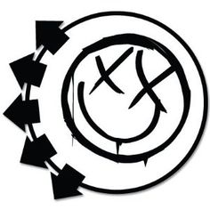"Amazon.com: Blink-182 Smiley Face bumper sticker 4"" x 4"": Automotive"