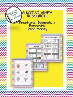 $3.00Visit my TPT store for more Not So Wimpy Resources.  This resource is great for differentiating instruction. Help struggling students, or those who have a difficult time with math concepts, understand fractions using money. This resource includes an info sheet, practice sheet, flashcards, and a bingo board.