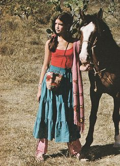 'It's not so much the pieces you wear as how you put them together.' (1979) #Seventeen #PhoebeCates
