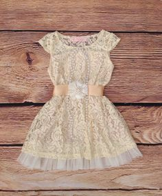 Cream Lace Toddler Girls Dress, Ivory Flower Girl Dress, Rustic Flower Girl Dress Wedding, Easter Dress, Birthday Dress, Beach Dress Wedding
