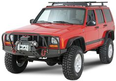 Jeep Cherokee 4x4 | Rock Hard 4x4 Parts Front Bumper in Black for 84-01 Jeep® Cherokee XJ ...