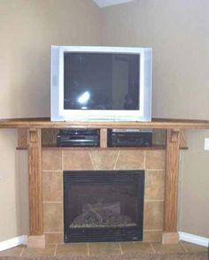 DIY Corner Fireplace DIY Inspiration Pinterest Dresser