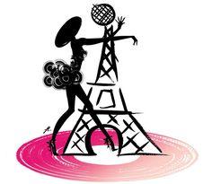 """Guerlain """"La Petite Robe Noire"""": Love Gives You Wings by Kuntzel & Deygas l #illustration #eiffeltower"""