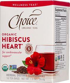 Choice Organic Teas Wellness Teas, 6 Boxes of 16 Tea Bags), Hibiscus Heart Healthy Blood Pressure, Blood Pressure Remedies, Loose Leaf Tea, Herbal Tea, Hibiscus, Herbalism, Berries, Herbs, Wellness