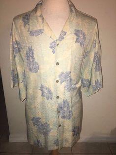 Tommy Bahama 100% Silk Hawaiian Shirt Mens 2XL XXL Floral Aloha Surf Island Life #TommyBahama #Hawaiian