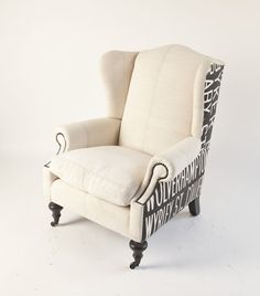 Upholstered Wingback-- Funky outside fabric? & One Chair Two Different Fabrics | Pinterest | Fabrics Upholstery ...