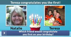 Which friend would congratulate you first on your birthday?