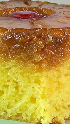Best Pineapple Up-Side Down Cake Recipe ~ Says: I bet you'll agree, It's the Best... And by far, the easiest!