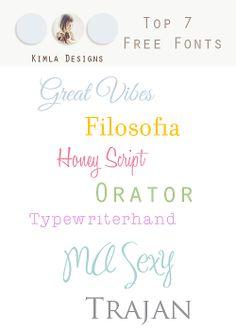 kimla designs   Photoshop Templates for Photographers   Digital Scrapbooking: free fonts
