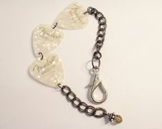 White Guitar Pick Bracelet