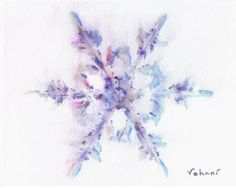 Watercolour snowflake