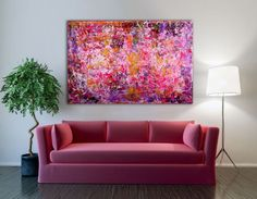 ARTFINDER: Golden Spring by Nestor Toro - I've been very inspired lately by bright colors such as pink and Hasan yellow. This piece is part of the intrusion series which is one full of texture and co...