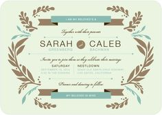 """This wedding invitation is perfect for a modern Jewish bride. Featuring rustic accents and unique typography, the wedding invitation template can be customized. The invitation also features the popular traditional Jewish wedding phrase """"I am my beloved's and my beloved is mine"""" from Song of Solomon. As low as $1.59. Find more Jewish wedding invitations, save the dates, and more reception stationery at www.WeddingPaperDivas.com."""